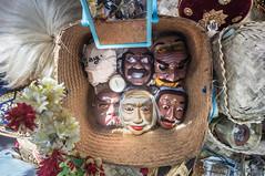 Topeng (kuuan) Tags: manualfocus mf voigtländer15mm cvf4515mm 15mm bali indonesia sonynex5n festival temple masks wodenmasks basket dancer