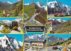 Postkarte / Österreich (micky the pixel) Tags: postkarte postcard ephemera multiview österreich austria grosglocknerhochalpenstrase heiligenblut parkplatzfreiwandeck gebirge mountains alpen ostalpen glocknergruppe bundeslandkärnten
