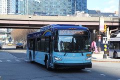 IMG_5107 (GojiMet86) Tags: mta nyc new york city bus buses 2018 xd40 7642 nis not in service jackson 43rd avenue