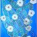 ''White Cactus Flower'' by Patricia H, acrylic, $100.00