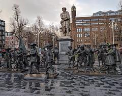 Rembrandt and his Watchmen in the Rembrandtplein (xd_travel) Tags: amsterdam apr2019 netherlands rembrandt nightwatch rembrandtplein louisroyer monument