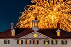 Mount Vernon Illumination #2 (jcernstphoto) Tags: georgewashington mountvernon virginia alexandria night fireworks illumination holidays
