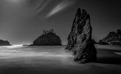 Drama at the Coast (Manuela Durson) Tags: oregon oregoncoast pacific northwest pacificocean seastack black white landscape nature longexposure