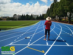 400m_self-knot_full_PU_running_track_ssgsportsurface (4) (ssgsportsurface) Tags: ssgsportsurface sportflooring runningtrack basketballcourt sportcourt stadium construction epdm syntheticflooring siliconpu prefabricatedrunningtrack
