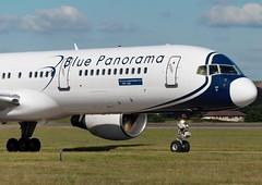 EI-DKL Blue Panorama Airlines (Gerry Hill) Tags: eidkl blue panorama airlines boeing 757231 edinburgh airport b757 b 757 italy italian scotland turnhouse ingliston sony f707 boathouse bridge aircraft international aeroplane airline egph airplane transport