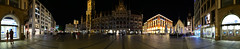 Munich - Marienplatz 360° Panorama (cnmark) Tags: germany munich deutschland münchen neues rathaus new city hall gothic revival architecture neugotisch style stil historical historisch architektur night nacht nachtaufnahme light landmark famous iconic ©allrightsreserved