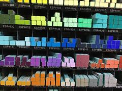 Pastels (sjrankin) Tags: 24december2018 edited hokkaido japan closeup art artsupplies pastels colors pastelsticks display store