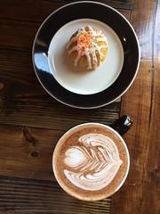 coffee and small cake dessert (storyvillegirl) Tags: cafe coffee cake dessert breakfast snack treat