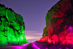 _0PC8233ASE (pcartermiet) Tags: rocks lightpainting night landscape outdoors cowandcalf ilkley nikon d810 quarry rock stars sky