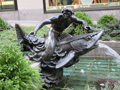 Mackerel Fountain - 30 Rockefeller Plaza NYC 9578 (Brechtbug) Tags: 30 rock rockefeller plaza center fountain with fish riders sculptures off 5th ave near 49th 50th streets entrance sea creature tentacles nyc 011019 new york city octopus arms wrapping around statue sculpture january 2019