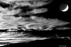 Fantasie di un Demiurgo (Paolo Bonassin) Tags: clouds nubi wolke sky moon luna rielaborazioni composition art artcomposition rework postproduction bw monochrome blackandwhite bianconero