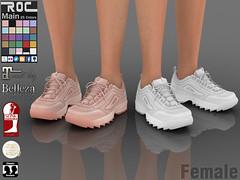 ::ROC:: Disruptor Sneaker (FEMALE) (ROC FASHION) Tags: roc roscee shoes sneaker boots chuck running secondlife sl female woman girl fatpack couple