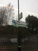 The Hawthorns Station sign (svr_p_way) Tags: westmidlandspassengertransportexecutive wmpte stourbridgeline thehawthorns thehawthornsstation