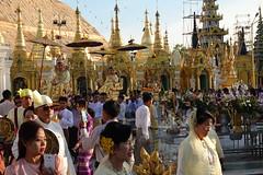 Ordination ceremony for novice Buddhist monks, Shwedagon Pagoda, Yangon (13) (Prof. Mortel) Tags: myanmar burma yangon rangoon buddhist pagoda shwedagon monks