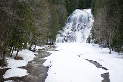 Ice Falls (Northern Wolf Photography) Tags: brook forest snow trees water waterfall winter woods colebrook newhampshire unitedstates us