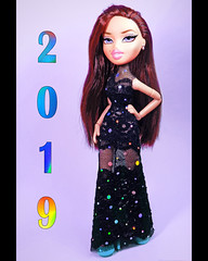 happy New Year and merry Christmas (Murka_Doll) Tags: братц bratz doll mga phoebe 2019 happy new year merry christmas black lace dress
