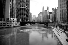 JJN_0469 (James J. Novotny) Tags: winter bridge water snow d750 nikon chicago downtown unlimitedphotos bw blackandwhite