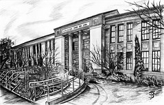 C. K. McClatchy Senior High School (Skyler Brown Art) Tags: architecture art artwork bw blackwhite blackandwhite ckmcclatchy ckmcclatchyhighschool ckmcclatchyseniorhighschool california ckm dark detail drawing graphite greyscale highschool ink mcclatchy paper pen pencil plants pretty publicschool sacramento school tree trees