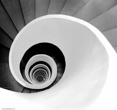 Escalera de caracol / Spiral staircase (ana menchon villacorta) Tags: spiralstaircase escaleradecaracol arquitectura bilbao bw blancoynegro espiral spiralstaiscase diseño design javiermariscal