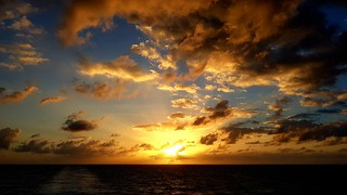 Caribean sea sunrise