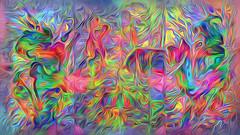 (K)AnalArt_58 pastos blühende Strudel (wos---art) Tags: bildschichten kanal art three communication kommunikation flowers blumen tulpen rosen farbkomposition sakrale räume awardtree