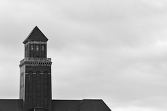 Outlook of Ages (Robin Shepperson) Tags: old history building architecture time blackandwhite monochrome tower windows berlin germany d3400 nikon sky clouds roof rooftop tiles bricks
