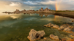 Laughter is the sun that drives winter from the human face… (ferpectshotz) Tags: monolake bishop leevining california rainbow doublerainbow lake sea alkalinelake southtufabeach tufaformations ancient easternsierra sierranevada highdesert mountaincountry