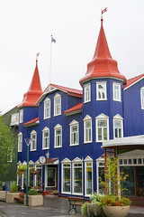 Akureyri and its botanical garden (jmarnaud) Tags: iceland 2018 family summer akureyri city walk old building botanical garden flower tree green