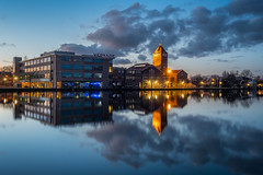 Verkade (Mario Visser) Tags: zaandam factory verkade bluehour water reflectie lights night