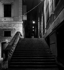 """Steps"" (giannipaoloziliani) Tags: shadows streetphotography focalpoint citynight europe lightandshadow liguria lamps flickr architecture scala dark buio urbanstreet urbanexplorer city downtown darkness notte steps italy genoa genova night nikonphotography nikon nikoncamera"