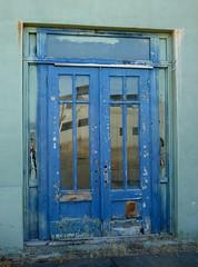 Blue Doors (MDawny72) Tags: doors aberdeen explorewashington washington mywashington abandoned 2012inphotos blue chippy rustic reflection azure cerulean old derelict urbanexploration beautyofcities everydaybeauty decay