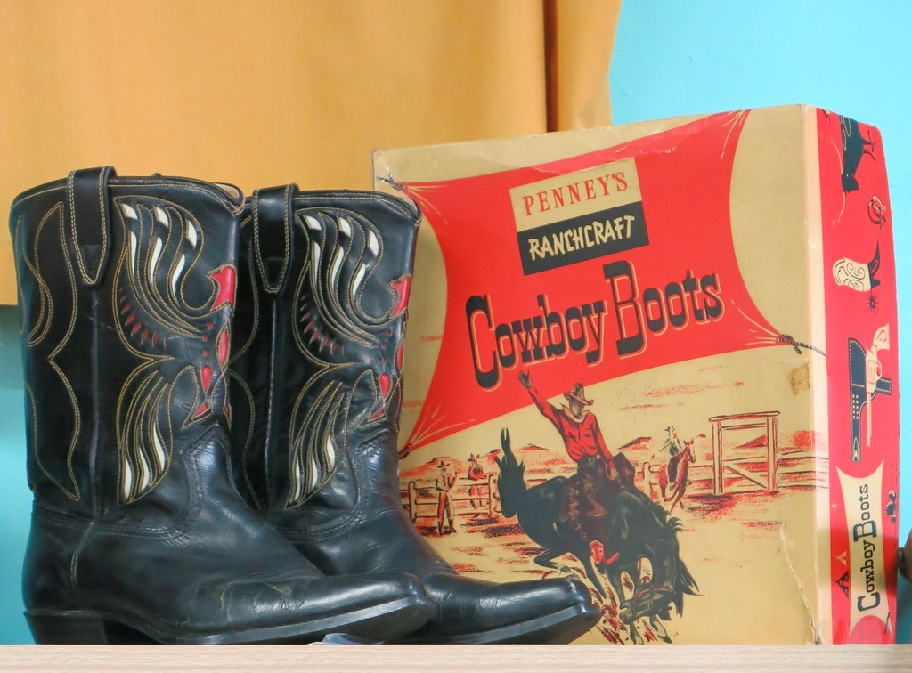 7e7aef3ef2e2 Men s Cowboy Boots and Penney s Ranchcraft Box at 23 Skidoo in San Jose  (hmdavid)