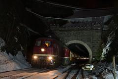 132 334 EBS Oberhof Tunnel 16.02.2019 (Falk Hoffmann) Tags: diesellok eisenbahn bahnhof tunnel reichsbahn dr ebs ludmilla br132 br232 städteexpres