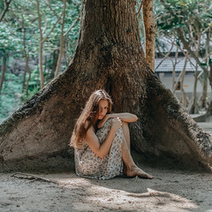 beyond (Maria Nenenko) Tags: idea concept conceptual marinino marininoart fineart art portrait closeup selfportrait thailand summer dress mood style vulnerable tree best 2019 lonelyness emotion woman girl beauty beautiful