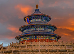 Temple of Heaven (Our Big Escape) Tags: ancient architecture art asia asian attraction beautiful beijing blue building china chinese complex culture day destination emperor famous gate good harvest heaven historic imperial landmark landscape old outdoor pagoda park pattern red royal sky summer symbol temple tourist traditional travel traveler white wood worship
