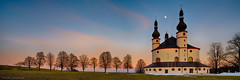 Dreifaltigkeitskirche Kappl / Church of Trinity Kappl - Upper Palatinate, Germany (dejott1708) Tags: dreifaltigkeitskirche churchoftrinity kappl upperpalatinate germany oberpfalz waldsassen deutschland landscape panorama landschaft sunset sonnenuntergang kirche church architecture architektur vollmond fullmoon