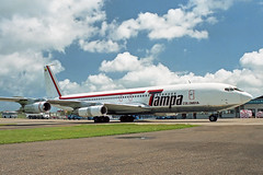 B707 (HK3030-X) Tampa Airlines (boeing-boy) Tags: tampa mikeling manston mse boeingboy b707 hk3030x