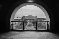 st john arena (brown_theo) Tags: columbus ohio osu campus st john arena black white winter ohiostate university