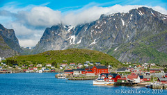 Under the mountains (keithhull) Tags: reine lofotenislands village houses sea mountains arctic norway june 2015