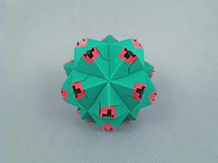 Bodiam (masha_losk) Tags: kusudama кусудама origamiwork origamiart foliage origami paper paperfolding modularorigami unitorigami модульноеоригами оригами бумага folded symmetry design handmade art