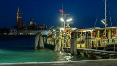 Water bus in Venice (Jorge Franganillo) Tags: venecia venice veneto venezia italia italy night bluehour noche notte ferry waterbus