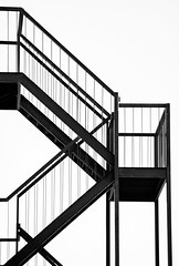 Escape Plans... (Mister Day) Tags: minimal steel stairs fire escape less simple plans metal curioos