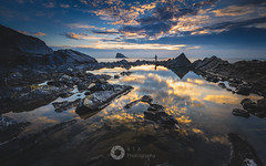 The Sky Below (RTA Photography) Tags: reflection pool seapool kasefilters k8 cpl nikon d750 outdoors nature light sky seascape rocks sea torbay morning sunrise dawn clouds rtaphotography coast southwest devon torquay meadfoot nikkor 1835