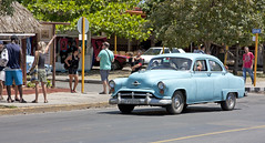 Oldsmobile 88? (Loops666) Tags: car oldsmobile 88 classic 50s cuba varadero holiday vacation blue automobile people pedestrians tourists