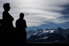 Backlight pic (Alexandra Kfr) Tags: nature mountain montagne autriche austria outside backlight sky blue landscape paysage ciel bleu silhouettes contrast cold men