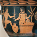 Athenian Red Figure bell krater representing a torch race