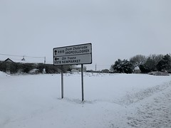 Snow Day - March 3, 2019 - County Cork, Ireland (firehouse.ie) Tags: countycork signposts signpost 2019 march ireland snowscape snowing snow sign