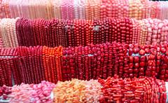 Red and Pink Beads (WayNet.org) Tags: rock wayne county indiana mineral photo by jane red beads fossil kuhlman show pink gem holman richmond holmanphotoscom center fairgrounds kuhlmancenter photobyjaneholman photobyjane waynecounty