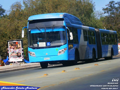 Busscar Urbanuss (Articulado) sobre Volvo B9 SALF (ZN5408) de la empresa Inversiones Alsacia realizando el recorrido 108. (Alexongis) Tags: busscar urbanuss volvo b9salf b9s b9sla chile transantiago brazil brasil export brazilexport bus buses onibus omnibus santiago transporte publico