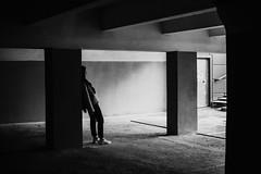 just love underground geometry (vlkvaph) Tags: 50mm canon6d canonukraine canon cinematography cinematic melancholic atmospheric atmosphere melancholy bw urban darkness dark model woman human girl geometry street blackwhite